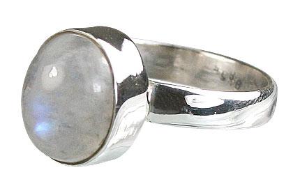 Design 8564: white moonstone rings