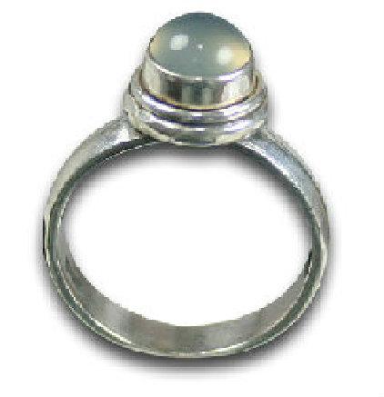 Design 8567: White moonstone rings