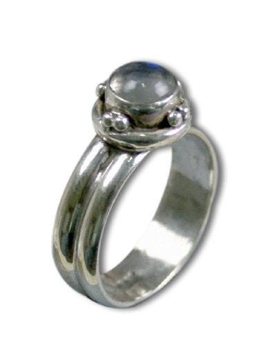 Design 8569: White moonstone rings