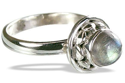 Design 8571: green labradorite rings