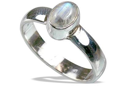 Design 8581: white moonstone rings