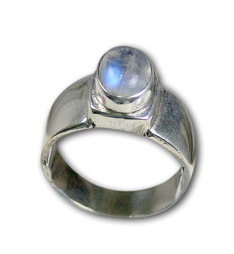 Design 8588: white moonstone rings