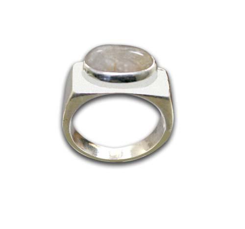 Design 8589: white moonstone rings
