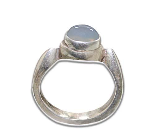 Design 8594: white moonstone rings