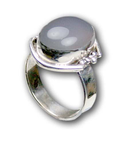 Design 8596: White moonstone rings