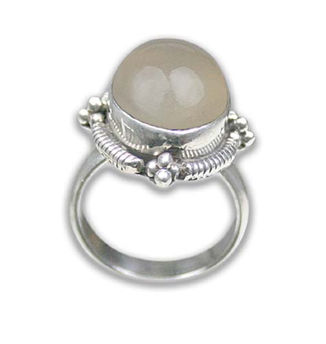 Design 8598: White chalcedony rings
