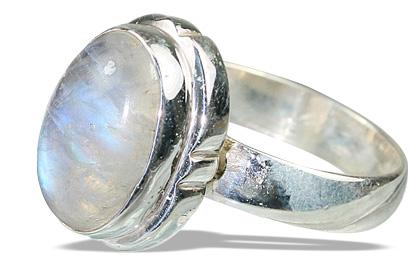 Design 8637: white moonstone contemporary rings