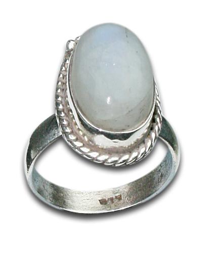 Design 8638: white moonstone rings