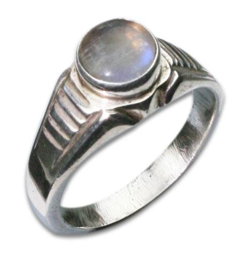 Design 8639: white moonstone rings