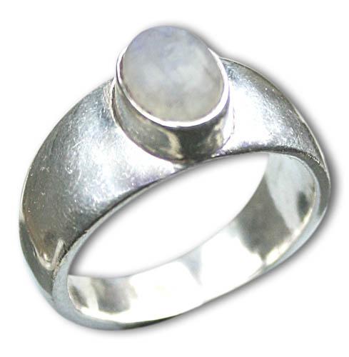 Design 8641: white moonstone rings