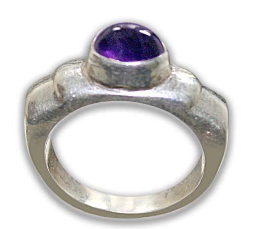 Design 8660: purple amethyst rings