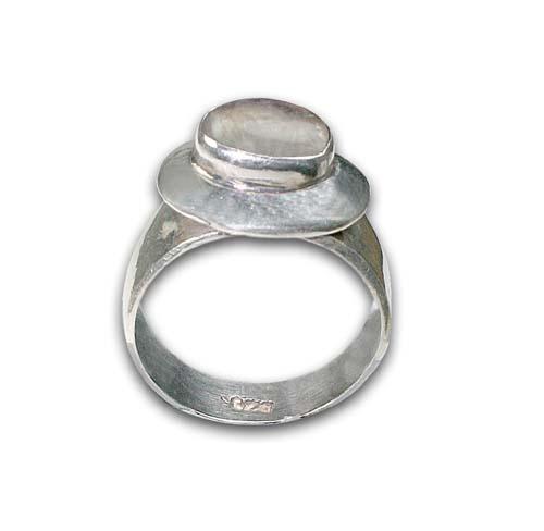 Design 8661: white moonstone rings
