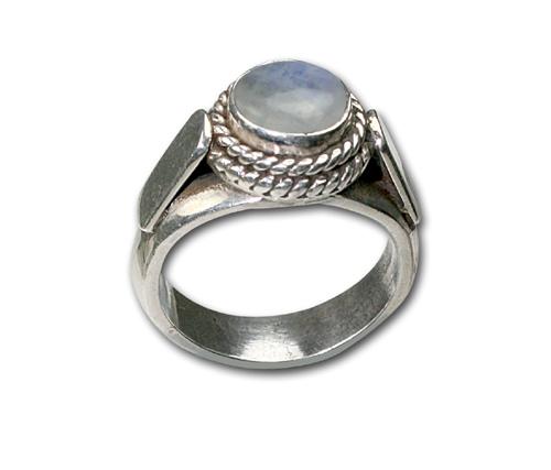 Design 8662: white moonstone rings