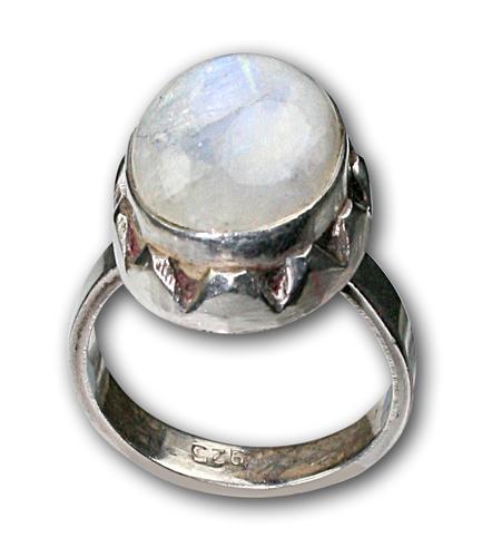 Design 8669: White moonstone rings