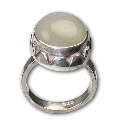 polished vermeil ring in a pin rings new gold setting chalcedony