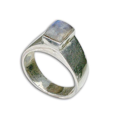 Design 8673: White moonstone rings