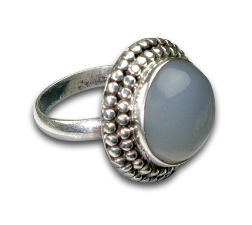 Design 8687: blue,white chalcedony rings