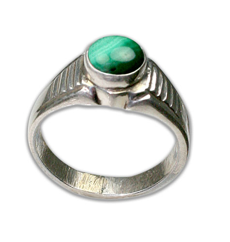 Design 8690: green malachite rings