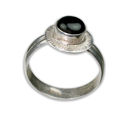 Design 8691: black onyx rings