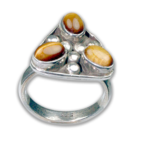 Design 8694: Yellow tiger eye rings