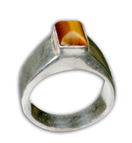 Design 8700: brown,yellow tiger eye rings