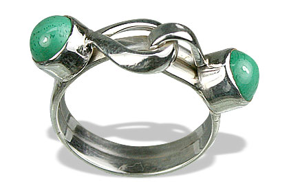 Design 8703: green malachite rings