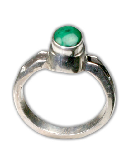 Design 8704: green malachite rings