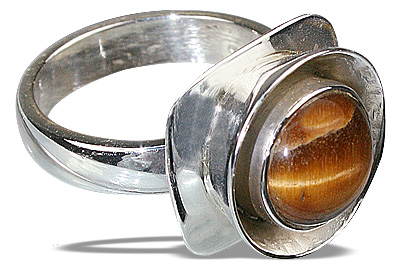 Design 8706: brown tiger eye rings