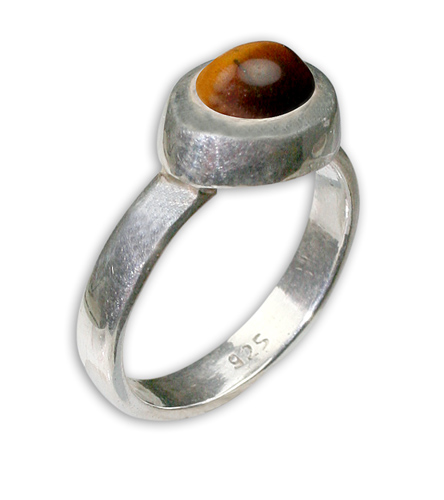 Design 8709: yellow tiger eye mens rings