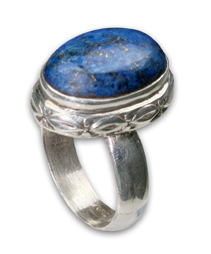 Design 8712: blue lapis lazuli american-southwest rings