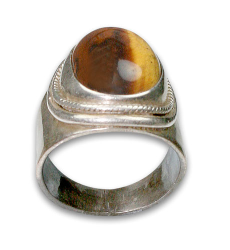 Design 8713: brown tiger eye rings