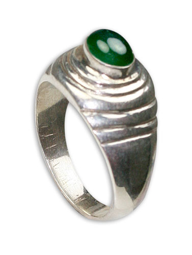 Design 8715: green onyx rings