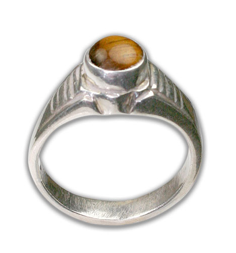 Design 8716: yellow tiger eye rings