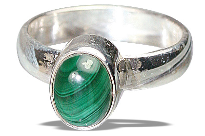 Design 8719: green malachite rings