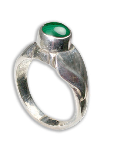 Design 8722: green malachite rings