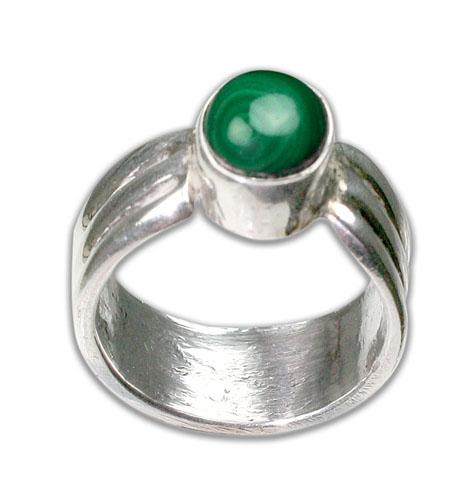 Design 8723: green malachite american-southwest rings