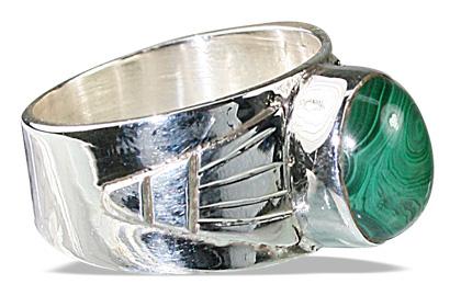 Design 8726: green malachite american-southwest rings