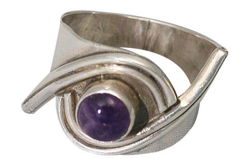 Design 8735: purple amethyst rings