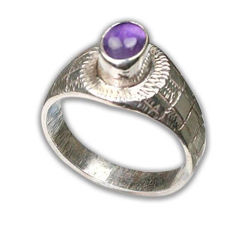 Design 8736: purple amethyst rings