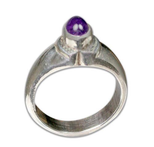 Design 8739: purple amethyst rings