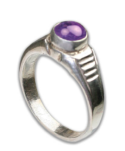 Design 8740: purple amethyst rings