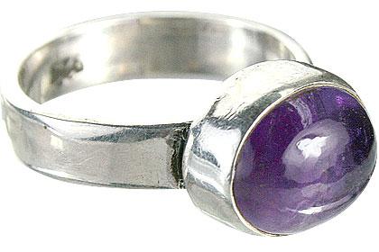 Design 8742: purple amethyst rings