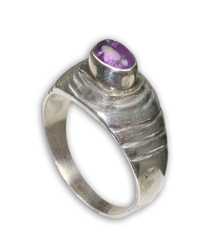 Design 8743: purple amethyst rings