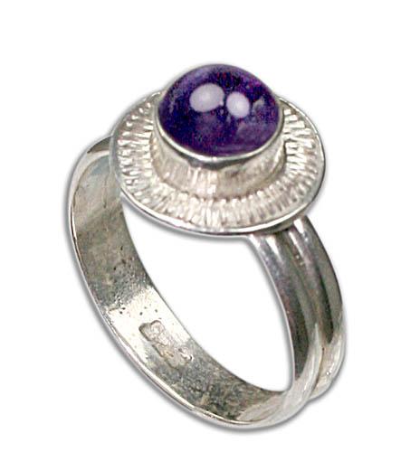 Design 8746: Purple amethyst rings