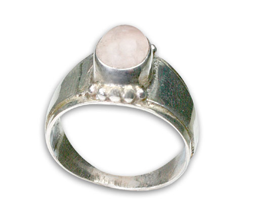 Design 8788: Pink rose quartz rings