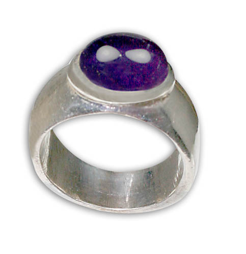 Design 8792: purple amethyst rings