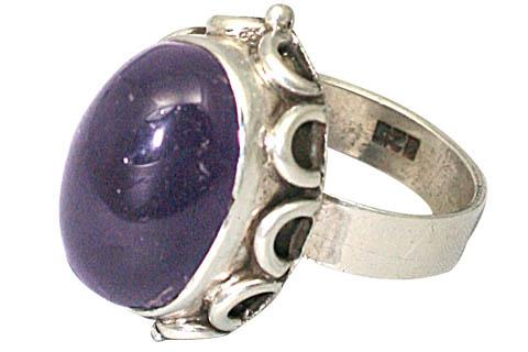 Design 8795: purple amethyst rings