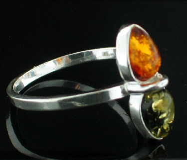 Design 8897: orange amber contemporary rings
