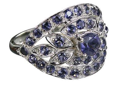 Design 8967: blue iolite cocktail rings