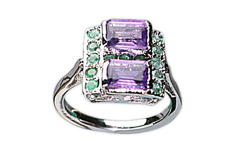 Design 8977: Purple, Green amethyst rings